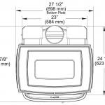 Unit Dimensions: Top View
