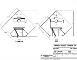 PE32 wood stove corner clearance