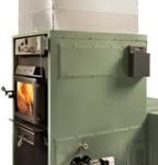 Max Caddy wood-oil-electric trio furnace with optional Beckett oil burner